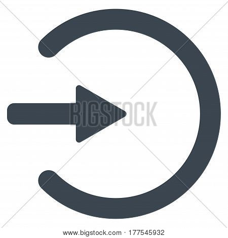 Entrance vector icon. Flat smooth blue symbol. Pictogram is isolated on a white background. Designed for web and software interfaces.