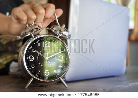 The Quality Time At Workspace stock photo