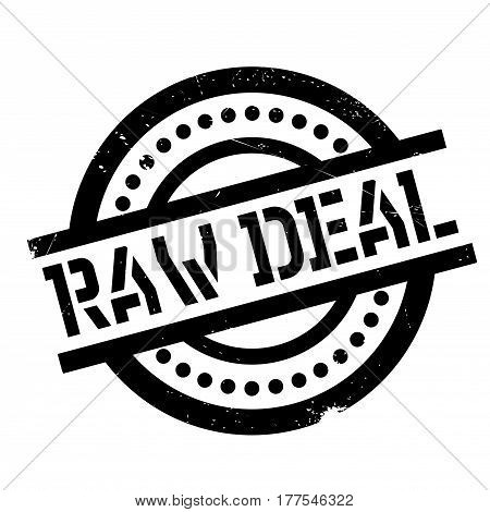 Raw Deal rubber stamp. Grunge design with dust scratches. Effects can be easily removed for a clean, crisp look. Color is easily changed.