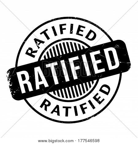 Ratified rubber stamp. Grunge design with dust scratches. Effects can be easily removed for a clean, crisp look. Color is easily changed.