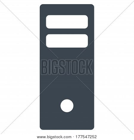 Server Mainframe vector icon. Flat smooth blue symbol. Pictogram is isolated on a white background. Designed for web and software interfaces.