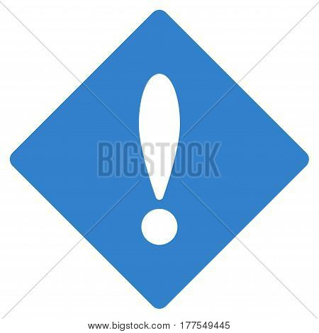 Error vector icon. Flat cobalt symbol. Pictogram is isolated on a white background. Designed for web and software interfaces.