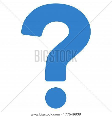 Question vector icon. Flat cobalt symbol. Pictogram is isolated on a white background. Designed for web and software interfaces.