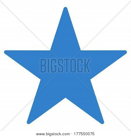 Star vector icon. Flat cobalt symbol. Pictogram is isolated on a white background. Designed for web and software interfaces.