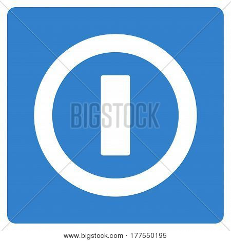 Switch vector icon. Flat cobalt symbol. Pictogram is isolated on a white background. Designed for web and software interfaces.