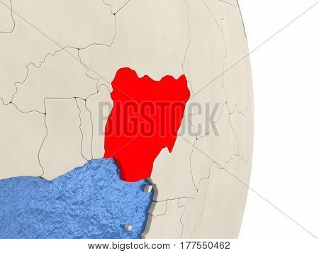 Nigeria On Model Of Political Globe