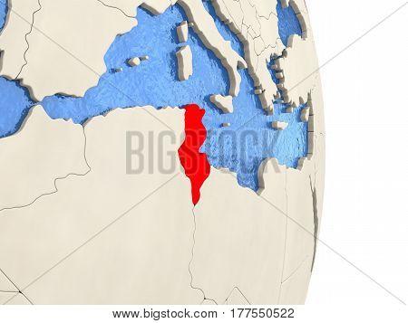 Tunisia On Model Of Political Globe