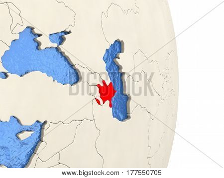 Azerbaijan On Model Of Political Globe