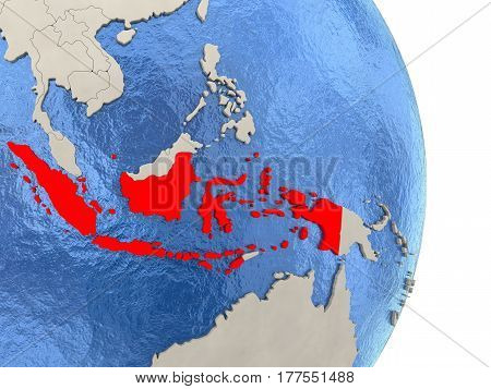 Indonesia On Model Of Political Globe