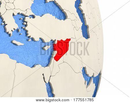 Syria On Model Of Political Globe