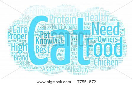 A Healthy Cat Knows What Tastes Good Word Cloud Concept Text Background