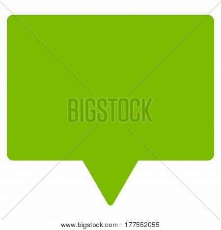 Banner vector icon. Flat eco green symbol. Pictogram is isolated on a white background. Designed for web and software interfaces.