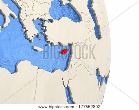 Cyprus On Model Of Political Globe