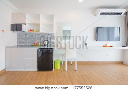 moden kitchen interior in new luxury home.