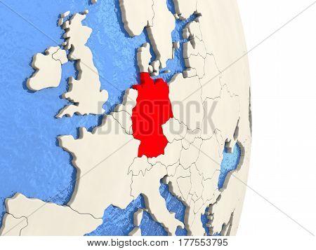 Germany On Model Of Political Globe