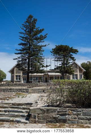 Cape Town South Africa - March 03 2017: The Robben Island school which was closed in December of 2011