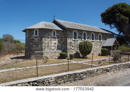 Cape Town South Africa - March 03 2017: Church of the Good Shepherd on Robben Island