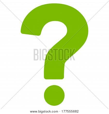 Question vector icon. Flat eco green symbol. Pictogram is isolated on a white background. Designed for web and software interfaces.