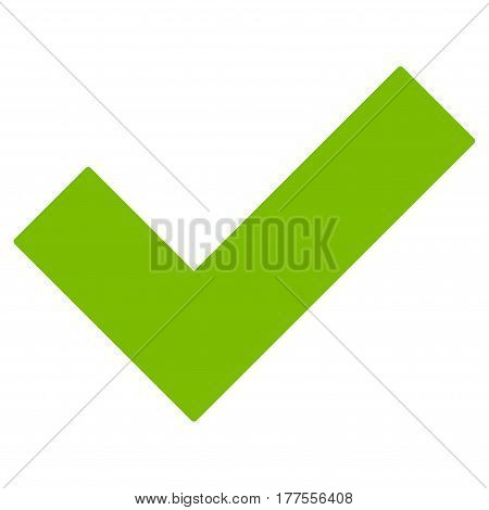 Yes Tick vector icon. Flat eco green symbol. Pictogram is isolated on a white background. Designed for web and software interfaces.
