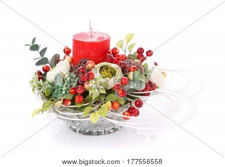 Festive flower arrangement to decorate the house