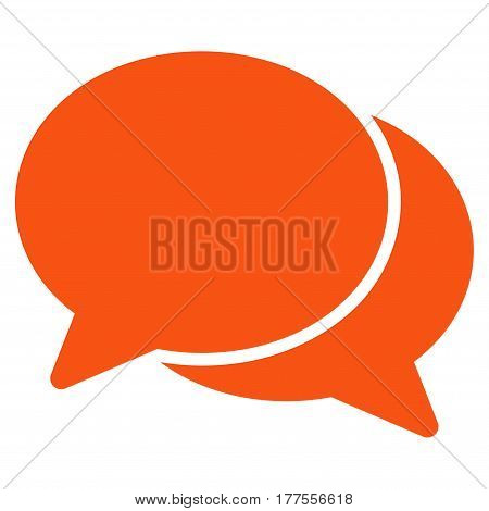 Chat vector icon. Flat orange symbol. Pictogram is isolated on a white background. Designed for web and software interfaces.
