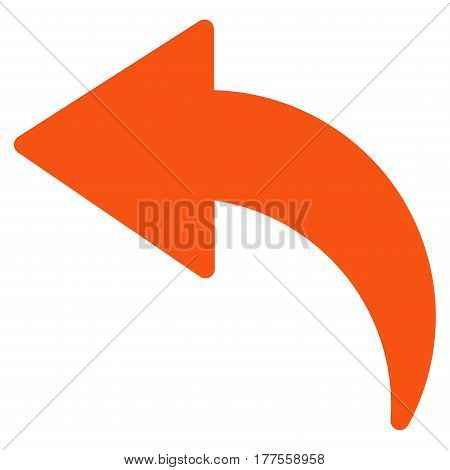 Undo vector icon. Flat orange symbol. Pictogram is isolated on a white background. Designed for web and software interfaces.