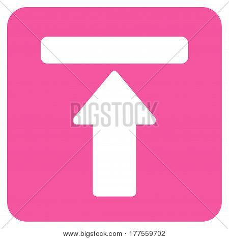 Expand Menu vector icon. Flat pink symbol. Pictogram is isolated on a white background. Designed for web and software interfaces.
