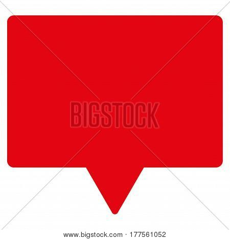 Banner vector icon. Flat red symbol. Pictogram is isolated on a white background. Designed for web and software interfaces.