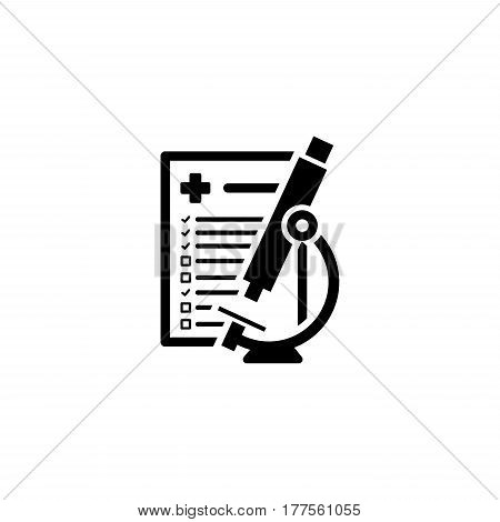 Laboratory Analysis and Medical Services Icon. Flat Design. Isolated.