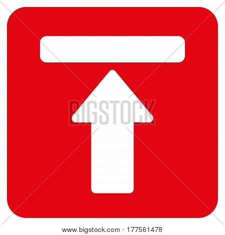 Expand Menu vector icon. Flat red symbol. Pictogram is isolated on a white background. Designed for web and software interfaces.