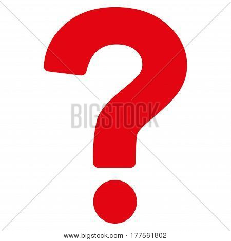 Question vector icon. Flat red symbol. Pictogram is isolated on a white background. Designed for web and software interfaces.