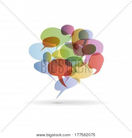Vector Abstract colorful dialog bubble, isolated on white