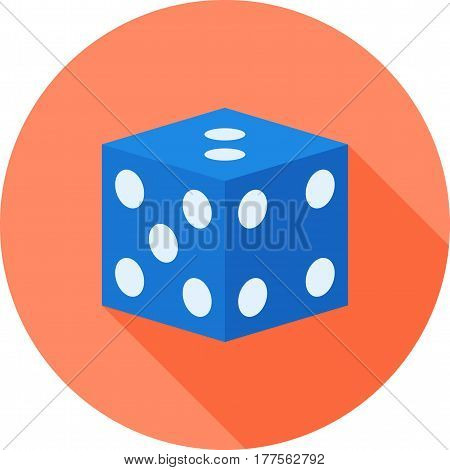 Dice, gambling, game icon vector image. Can also be used for casino. Suitable for mobile apps, web apps and print media.