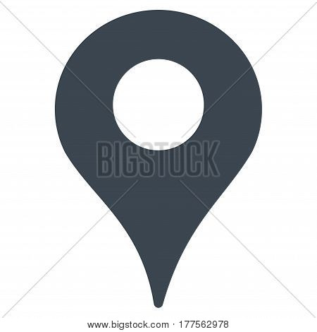Map Marker vector icon. Flat smooth blue symbol. Pictogram is isolated on a white background. Designed for web and software interfaces.