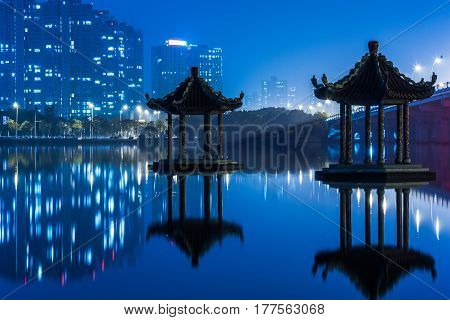 urban skyline and modern buildingscityscape of China.