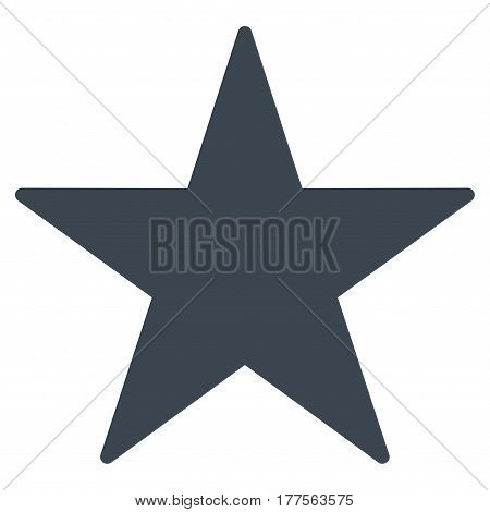 Star vector icon. Flat smooth blue symbol. Pictogram is isolated on a white background. Designed for web and software interfaces.