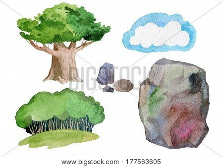 A set of images on nature theme