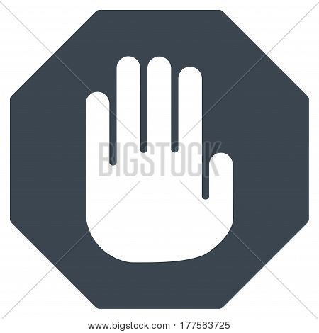 Terminate vector icon. Flat smooth blue symbol. Pictogram is isolated on a white background. Designed for web and software interfaces.