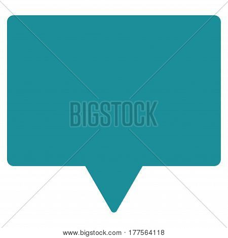 Banner vector icon. Flat soft blue symbol. Pictogram is isolated on a white background. Designed for web and software interfaces.