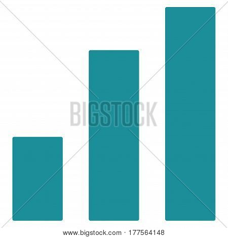 Bar Chart vector icon. Flat soft blue symbol. Pictogram is isolated on a white background. Designed for web and software interfaces.