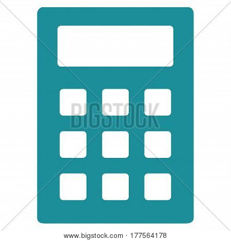 Calculator vector icon. Flat soft blue symbol. Pictogram is isolated on a white background. Designed for web and software interfaces.