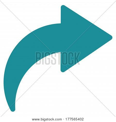 Redo vector icon. Flat soft blue symbol. Pictogram is isolated on a white background. Designed for web and software interfaces.