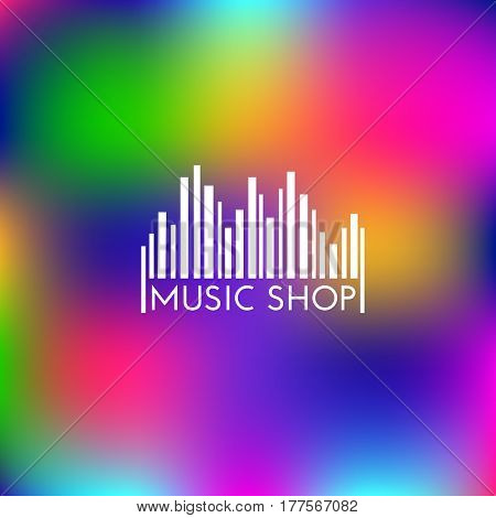 Logo design template with a bar code in the form of an equalizer. Vector illustration.