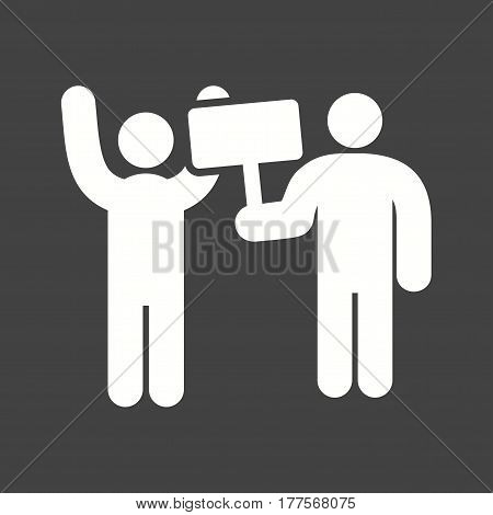 Protest, city, crowd icon vector image. Can also be used for city lifestyle. Suitable for web apps, mobile apps and print media.