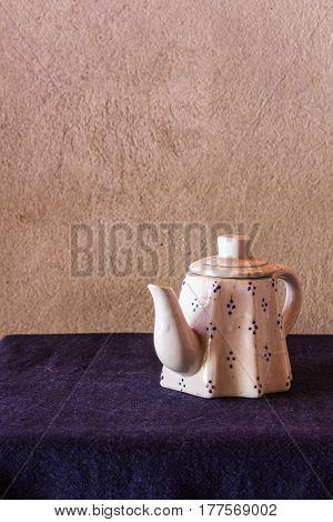 still life classic ceramic kettle , art