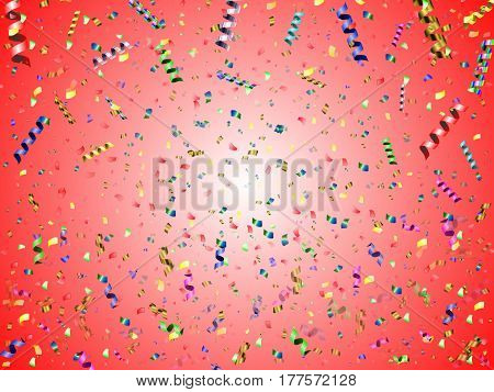 beautiful abstract holiday background with colorful confetti