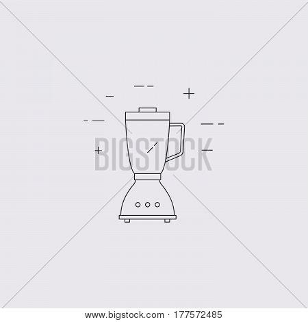 Blender Vector Line Icon.