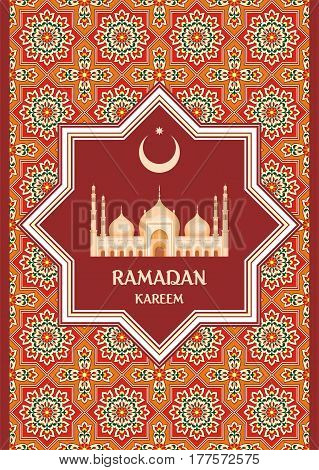 Ramadan Greeting Card Red.eps