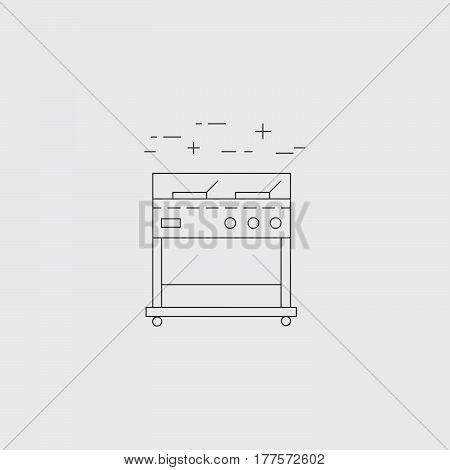 Fryer outline vector icon. Restaurant equipment. Vector illustrartion.