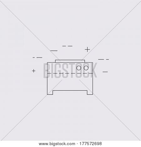 Crepe Machine Isolated Line Icon.